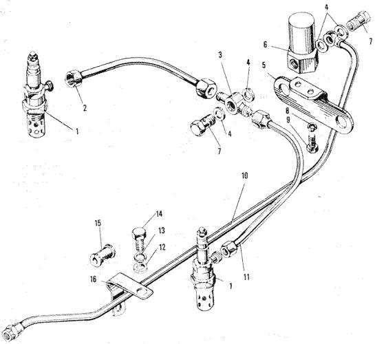 ЯМЗ 240 НМ2 Электрофакельное устройство