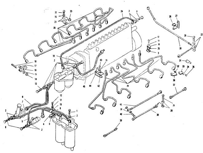 ЯМЗ 240 НМ2 Топливные трубопроводы