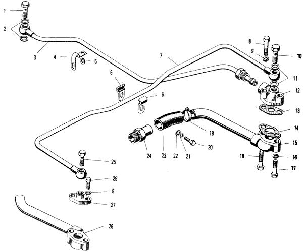 ЯМЗ 240 ПМ2 Масляные трубки турбокомпрессора К-36