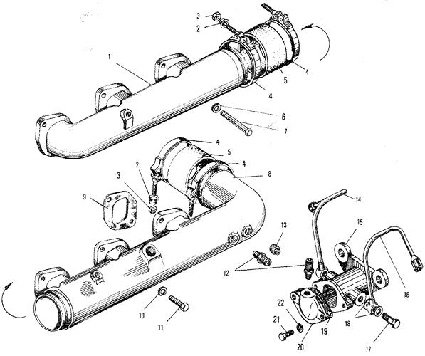 ЯМЗ 240 ПМ2 Впускной трубопровод