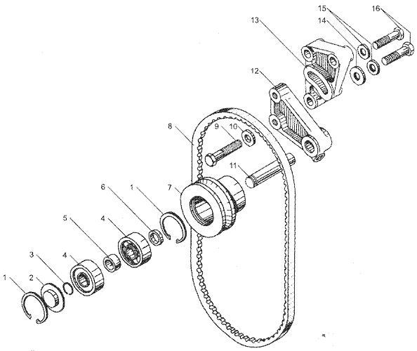 ЯМЗ 7511.10 Натяжное устройство ремня привода водяного насоса