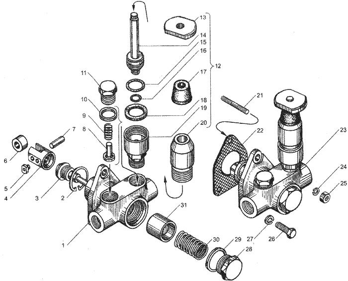ЯМЗ 7511.10-06 Трубопроводы топливные