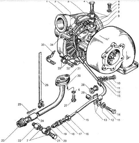 ЯМЗ 236 НЕ2 Турбокомпрессор