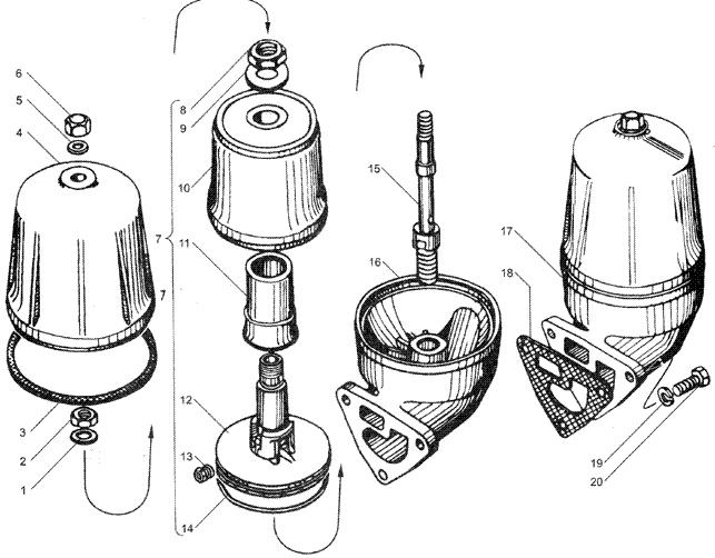 ЯМЗ 236 БЕ2 Маслоочиститель центробежный