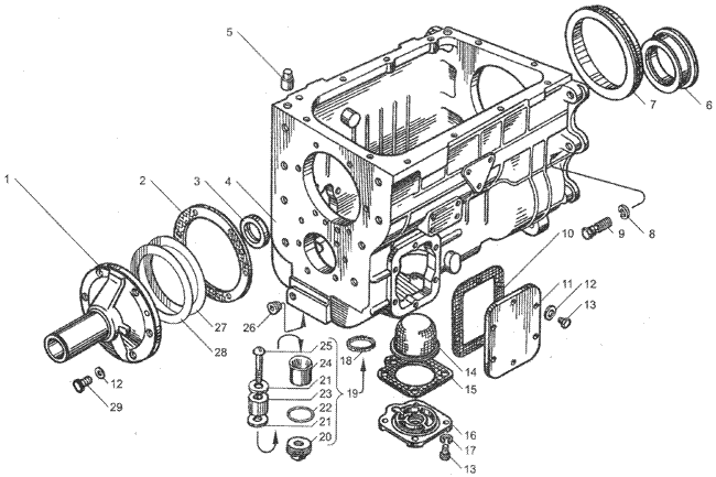ЯМЗ 236 БЕ2 Механизм переключения передач