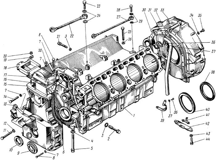 ЯМЗ 238 М Блок цилиндров
