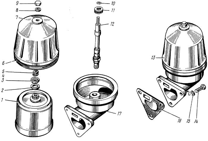 ЯМЗ 238 М Фильтр центробежной очистки масла