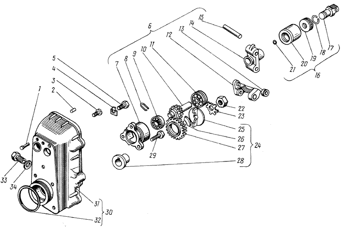 ЯМЗ 238 М Корпус регулятора частоты вращения