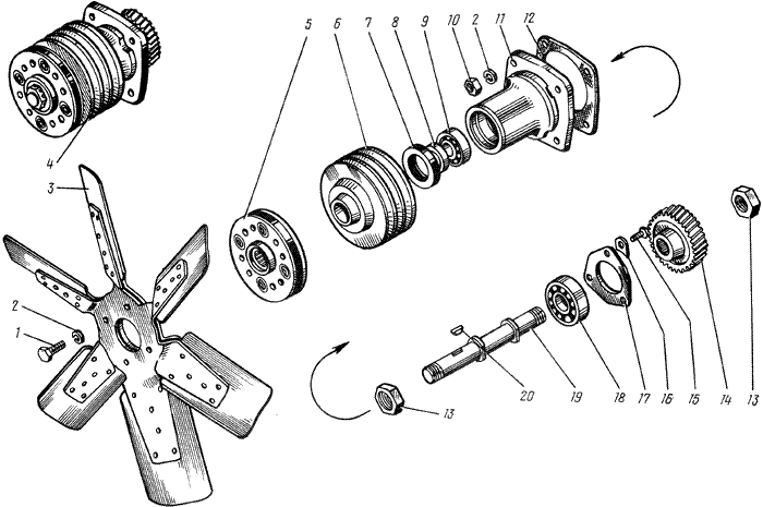 ЯМЗ 238 М Вентилятор