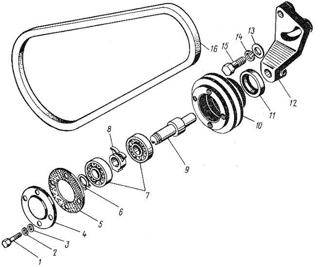 ЯМЗ 8421.10 Натяжное приспособление ремня водяного насоса
