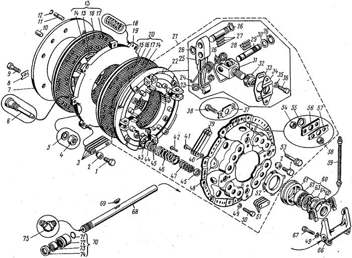 ЯМЗ 8421.10 Сцепление