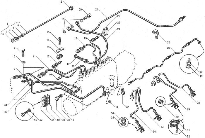 ЯМЗ 238БЕ Трубопроводы топливные