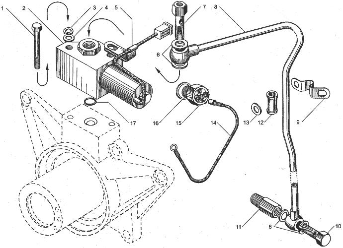 ЯМЗ 238БЕ Клапан электромагнитный привода вентилятора