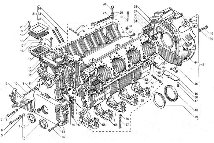 ЯМЗ 238БЕ2 Блок цилиндров