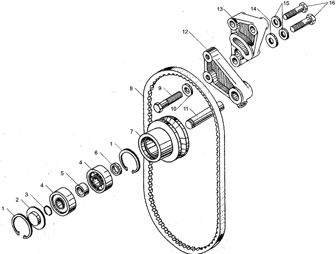 ЯМЗ 238БЕ2 Устройство натяжное ремня привода водяного насоса
