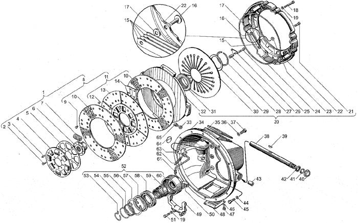ЯМЗ 238БЕ2 Сцепление ЯМЗ-183