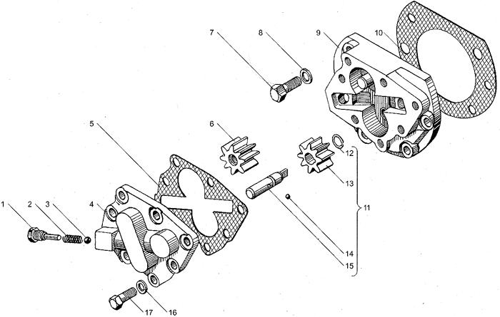 ЯМЗ 238БЕ2 Масляный насос коробок передач ЯМЗ 238ВМ5, ЯМЗ 238ВМ7, ЯМЗ 238ВК7