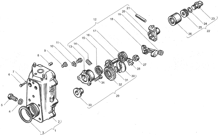ЯМЗ 238ДЕ Корпус регулятора чстоты вращения