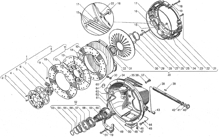 ЯМЗ 238ДЕ Сцепление ЯМЗ-183