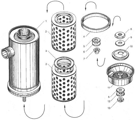 ЯМЗ 238ДЕ-11 Воздушный фильтр