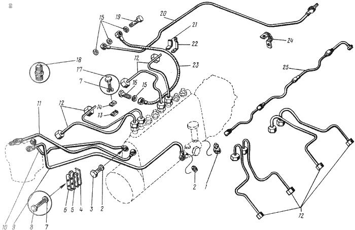 ЯМЗ 238 ИМ Топливопроводы