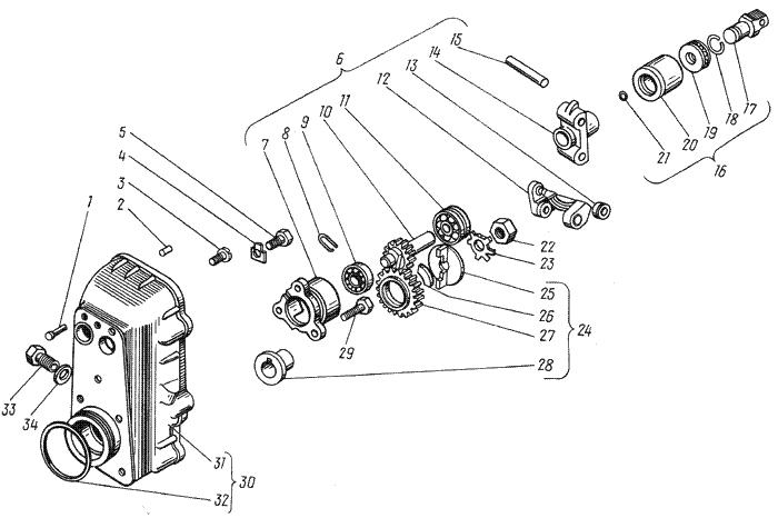ЯМЗ 238 ИМ Корпус регулятора частоты вращения