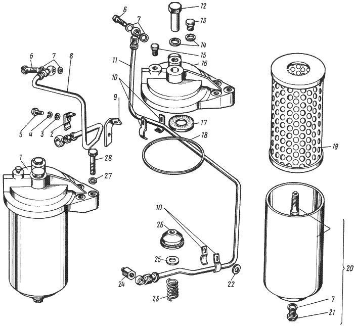 ЯМЗ 238 НД Масляный фильтр турбокомпрессора