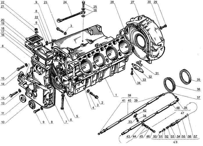 ЯМЗ 238 Б Блок цилиндров