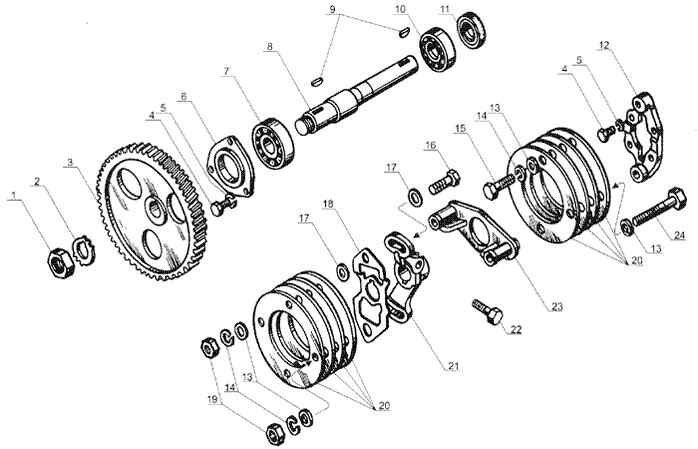 ЯМЗ 238 Б Привод топливного насоса