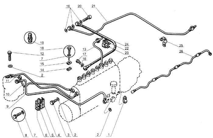 ЯМЗ 238 Б Топливные трубопроводы