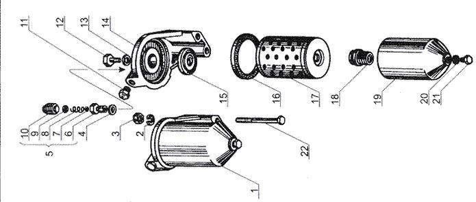 ЯМЗ 238 Б Фильтр тонкой очистки топлива