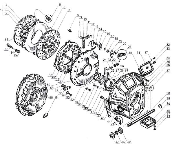 ЯМЗ 238 Б Сцепление ЯМЗ 238Н