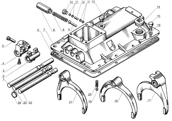 ЯМЗ 238 Б Механизмы переключения передач ЯМЗ 238А и ЯМЗ 238Б