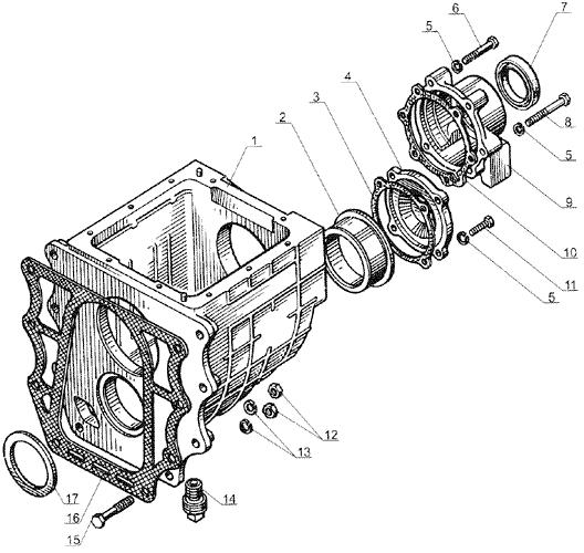ЯМЗ 238 Б Картер понижающей передачи