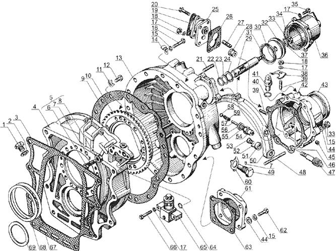 ЯМЗ 238 Б Картер демультипликатора