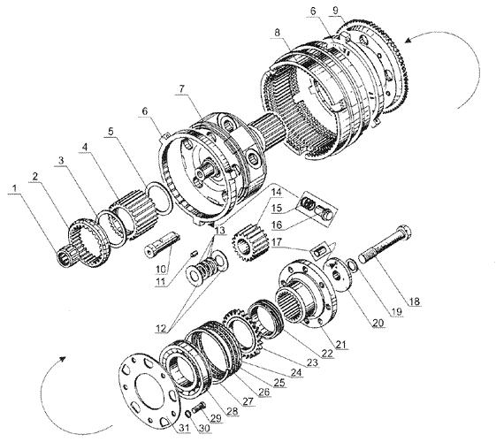 ЯМЗ 238 Б Ваалы и шестерни демультипликатора