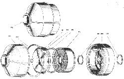 ЯМЗ 240 НМ2 Воздушный фильтр