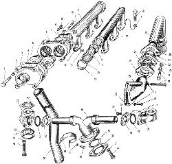 ЯМЗ 240 НМ2 Трубопровод системы охлаждения
