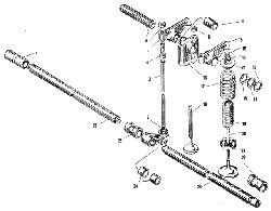 Клапаны и толкатели ЯМЗ 240 НМ2