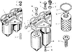 Фильтр тонкой очистки топлива ЯМЗ 240 ПМ2