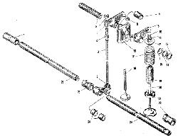 Клапаны и толкатели ЯМЗ 240 ПМ2