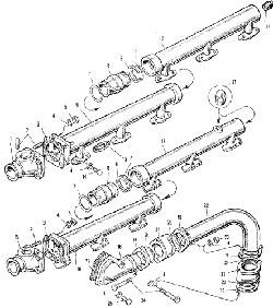 ЯМЗ 240 БМ2 Трубопровод системы охлаждения
