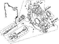 ЯМЗ 8401.10 Картер маховика и механизм привода