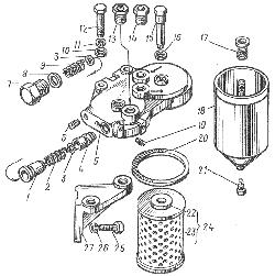Фильтр тонкой очистки топлива ЯМЗ 8401.10