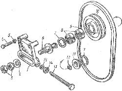 ЯМЗ 8401.10 Натяжное приспособление ремня натяжного насоса