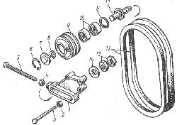 ЯМЗ 8401.10 Натяжное приспособление ремня привода генератора