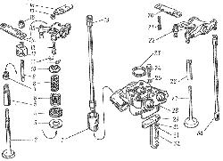 Клапаны и толкатели ЯМЗ 8401.10