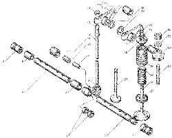 Клапаны и толкатели ЯМЗ 7511.10