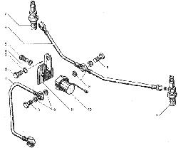 ЯМЗ 7511.10-06 Вентиляция картера, для двигателей с индивидуальными головками цилиндра