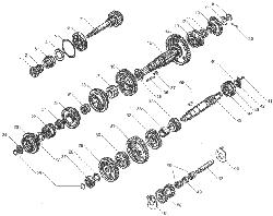 ЯМЗ 236 НЕ Механизм переключения передач